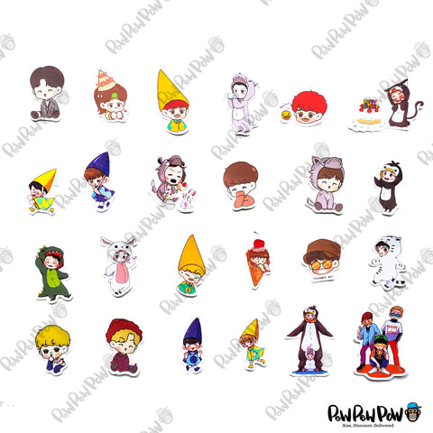 "60 PCS ""EXO Kpop"" Vinyl Stickers"