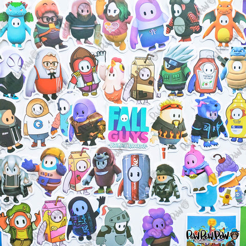 "50 PCS ""Fall Guys"" Vinyl Stickers"