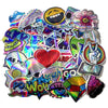 "Image of 55 PCS ""Laser Reflective"" Waterproof Stickers-SALE"