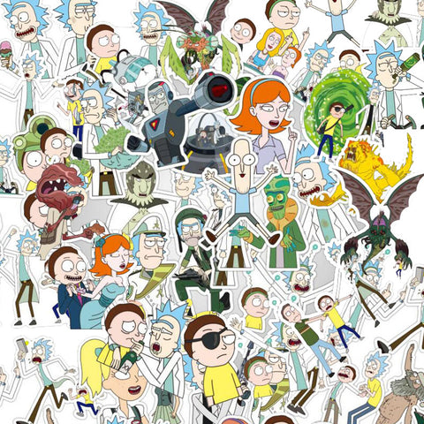 "100 PCS ""Rick & Morty"" Waterproof Stickers-SALE"