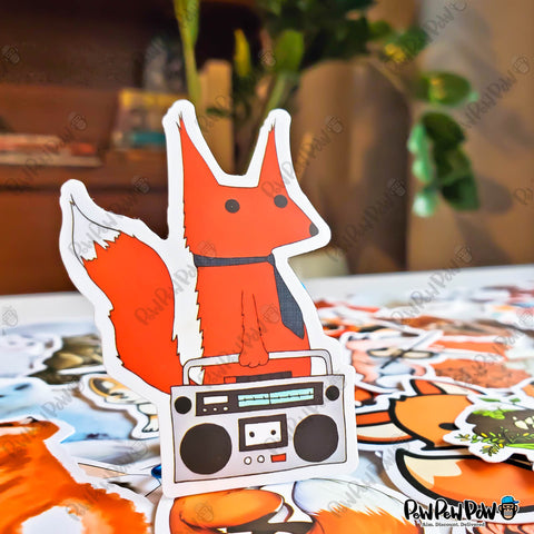 "50 PCS ""Fox"" Vinyl Sticker Pack"