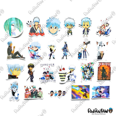 "50 PCS ""Gintama"" Vinyl Anime Stickers"