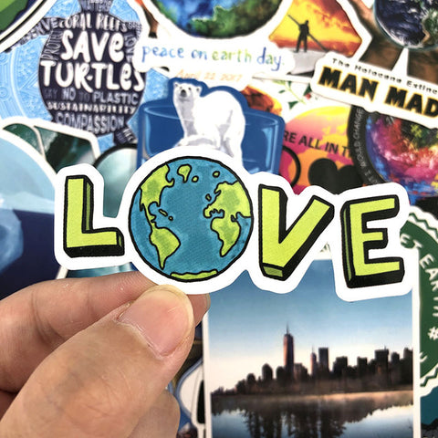 "50 PCS ""Global Warming"" Stickers"