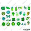 "Image of 50 PCS ""Go Green"" Vinyl Sticker Pack"