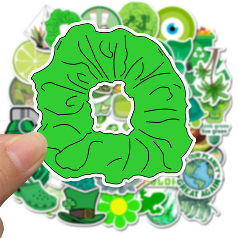 "50 PCS ""Greens"" Stickers"