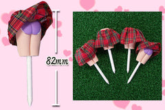 Humor Gag Golf Tee - Mini Skirt Red (Pack of 4)