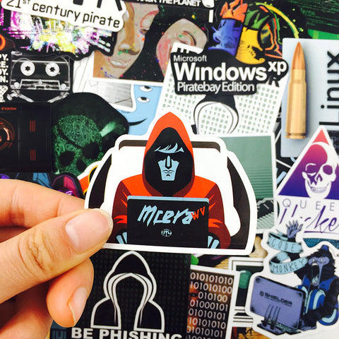 "50 PCS ""Hackers"" Stickers"
