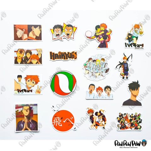 "50 PCS ""Haikyu!! Set B"" Vinyl Sticker Pack"