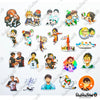"Image of 50 PCS ""Haikyu!! Set B"" Vinyl Sticker Pack"