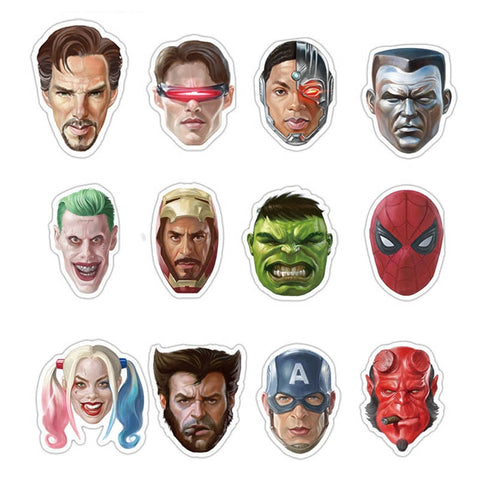 "50 PCS ""Superhero Portrait"" Waterproof Stickers-SALE"