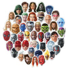 "Image of 50 PCS ""Superhero Portrait"" Waterproof Stickers"