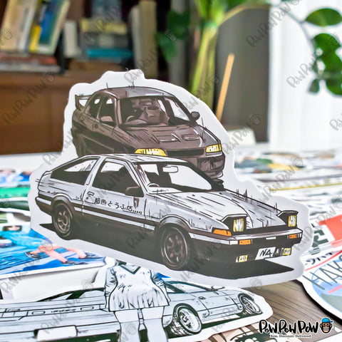 "50 PCS ""Initial D"" Vinyl Stickers"