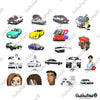 "Image of 50 PCS ""Initial D"" Vinyl Stickers"