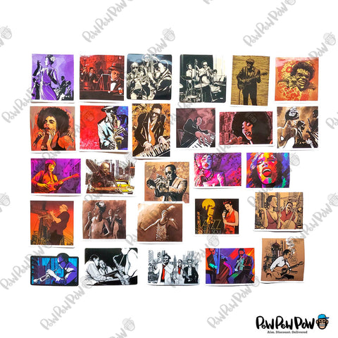 "50 PCS ""Jazz"" Vinyl Stickers"