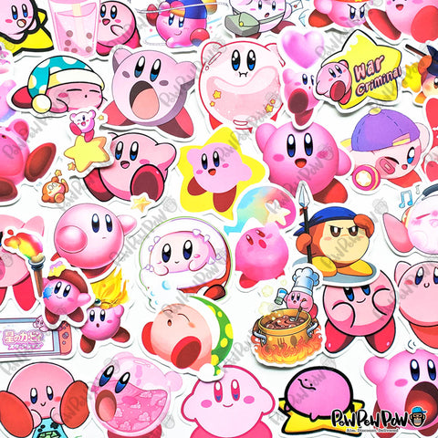 "50 PCS ""Kirby"" Vinyl Stickers"