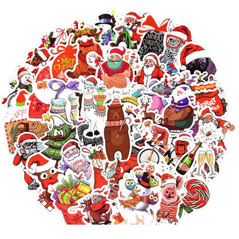 "50 PCS ""Merry Xmas"" Stickers"