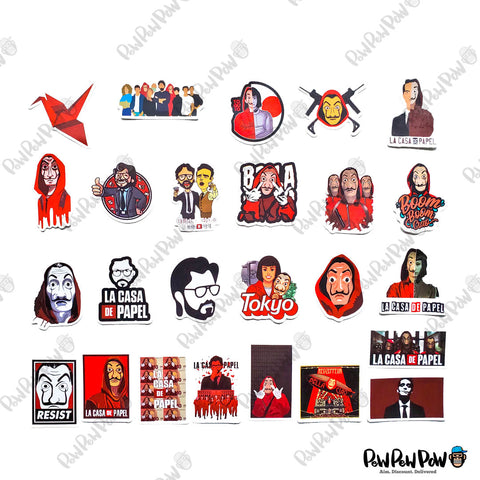 "50 PCS ""Money Heist"" Vinyl Sticker Pack"