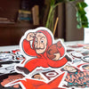 "Image of 50 PCS ""Money Heist"" Vinyl Sticker Pack"