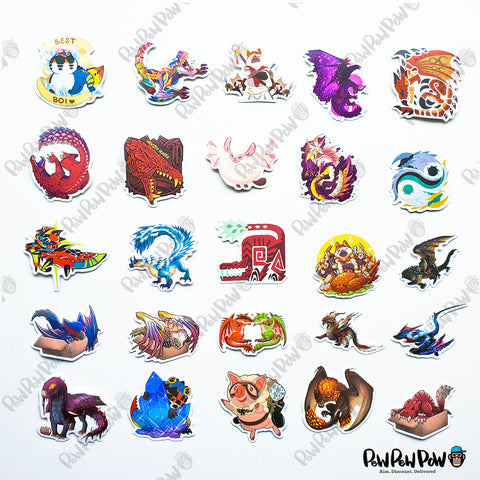"50 PCS ""Monster Hunter"" Vinyl Sticker Pack"