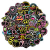 "Image of 100 PCS ""Neon Lights"" theme Waterproof Stickers"