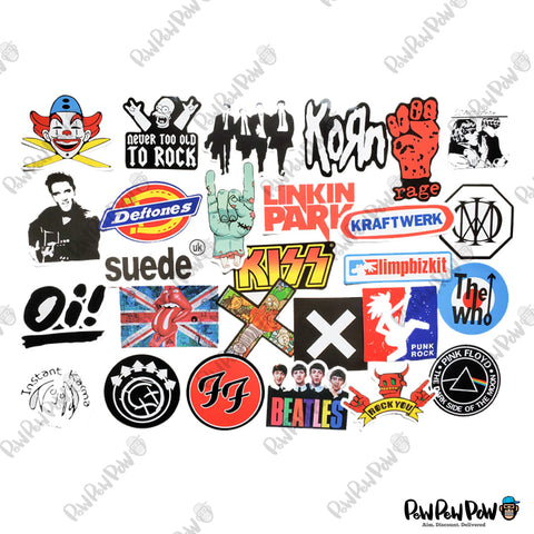 "95 PCS ""Rock N Roll"" Music Vinyl Stickers-SALE"