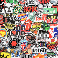 "95 PCS ""Rock N Roll"" Music Vinyl Stickers"