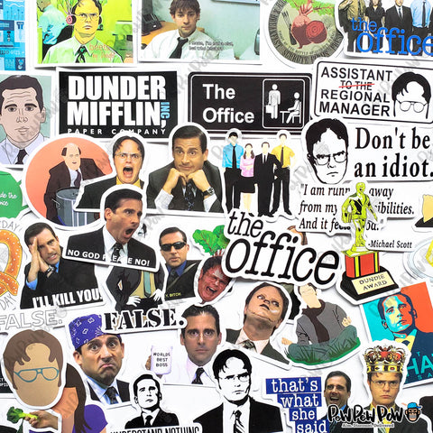 "50 PCS ""The Office"" TV Vinyl Stickers"