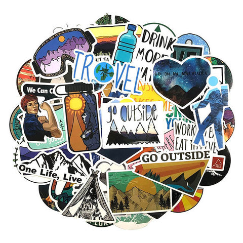 "50 PCS ""Outdoor Travel"" Stickers"