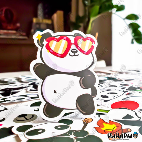 "50 PCS ""Panda"" Vinyl Sticker Pack"
