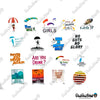 "Image of 44 PCS ""Paragliding"" Vinyl Stickers"