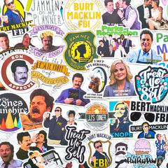 "50 PCS ""Parks and Recreation"" Vinyl Sticker Pack"