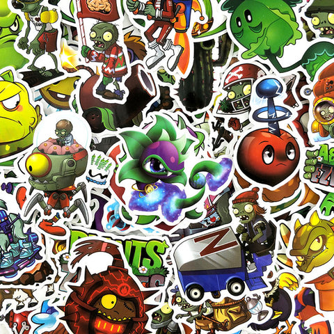 "50 PCS ""Plants vs Zombies"" Stickers"