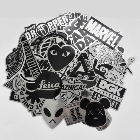 50pcs Special Edition Metallic Stickers-Sale