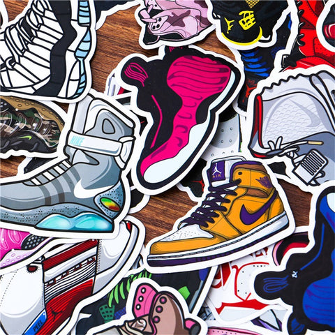 100 PCS Sneaker Shoes Waterproof Stickers-SALE