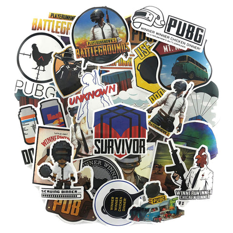 "25 PCS ""PUBG"" theme Waterproof Stickers-SALE"