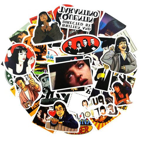 "50 PCS ""Pulp Fiction"" Stickers"