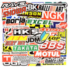 "Image of 100 PCS ""Racing Logos"" Stickers"