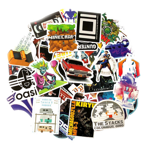 "50 PCS ""Ready Player One"" Parody Stickers"