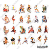 "Image of 50 PCS ""Retro Pinup Ladies"" Waterproof Stickers"