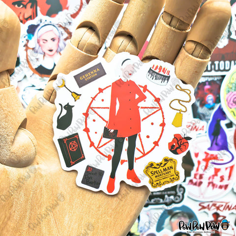 "50 PCS ""Chilling Adventures of Sabrina"" Vinyl Sticker Pack"
