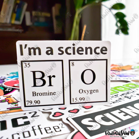 "50 PCS ""Science Laboratory"" Vinyl Stickers"