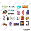 "Image of 50 PCS ""Science Laboratory"" Vinyl Stickers"