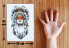 Image of Removable & Waterproof WOLF Temporary Tattoo-Large Sheet 21cmx15cm