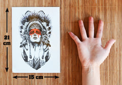 Removable & Waterproof MACHINE Temporary Tattoo-Large Sheet 21cmx15cm