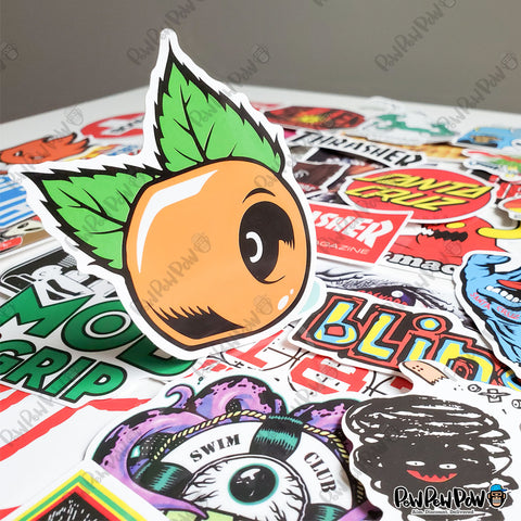 "100 PCS ""Skateboard"" Brand Stickers"