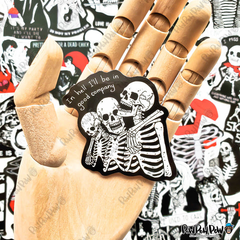 "50 PCS ""Skeleton In Love"" Vinyl Sticker Pack"