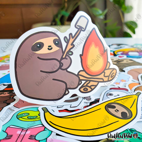 "50 PCS ""Sloth"" Vinyl Sticker Pack"