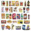 "Image of 75 PCS ""Snacks"" Waterproof Stickers-SALE"