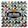 Image of 100 PCS Sneaker Shoes Waterproof Stickers-SALE