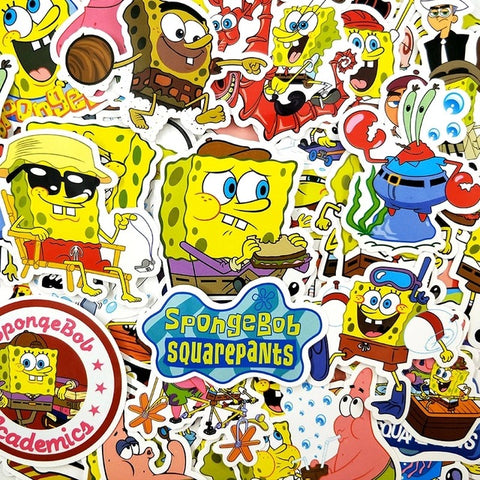 "50 PCS ""Spongebob"" Stickers"